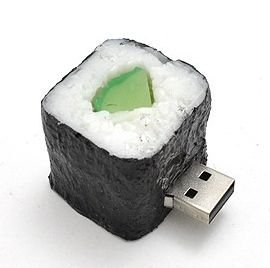 PLATA【 お寿司 すし SUSHI 】 おもしろ USB メモリ 8GB 【 かっぱ巻き 】