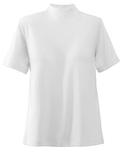 UltraSofts Cotton-Polyester Mock Top, White, Medium
