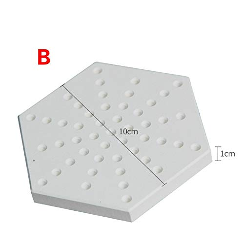 Wang shufang 1pc Keramik Firing Werkzeug Hitzebeständigkeit Hitzebeständige Kiln Furniture Keramikofen Nail Porous Refractory Bricks (Größe : B)