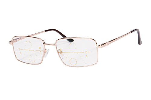 SHINU Metal Frame Progressivo Multifocus Multifocus Occhiali da Lettura Multifocale Multifocale-SH030