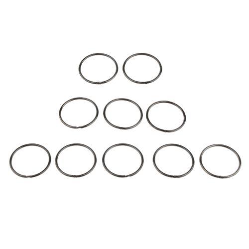 Baoblaze 10pcs Anneau de Libération Rapide Porte-Clés Boucle Suspendue Extérieure en Acier à Ressorts - Noir, 38mm