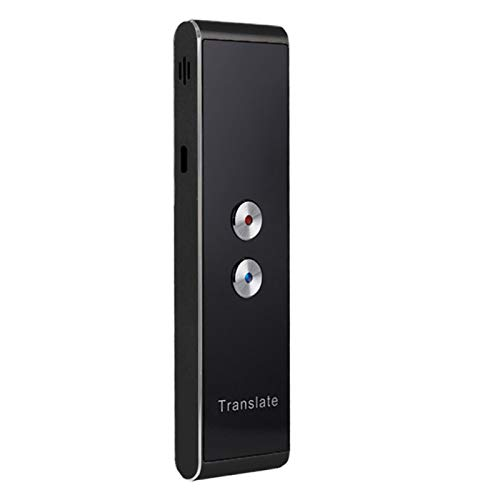 Smart Voice Translator, Two Way Voice Translator, 2.4G Real Time Multilingual Instant Translator Support 30+ Languages Lightweight for Travel and Business (Black)