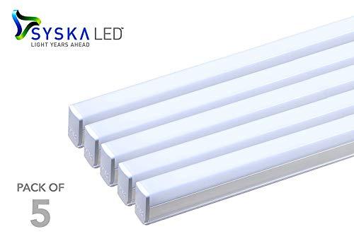 Syska SSK-T5-22W-N-6500K-5 22-Watt LED Tubelight (Pack of 5, Cool Day Light) (Medium) (Cool Day Light)