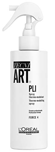 L'Oréal Professionnel Tecni.ART Pli Shaper Thermo-Spray, Haarspray starker Halt, Styling-Spray mit Hitzeschutz & Memory-Effekt, 190 ml