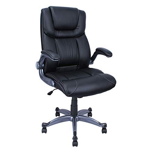 ALEKO 21 x 285 Inch Back PU Leather Executive High Back Ergonomic Office Desk Chair Ergonomic Computer Home Black