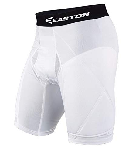 EASTON ELITE Baseball Sliding Short | Youth | Large | White | 2020 | Extra Protective Targeted Extra Foam Padding