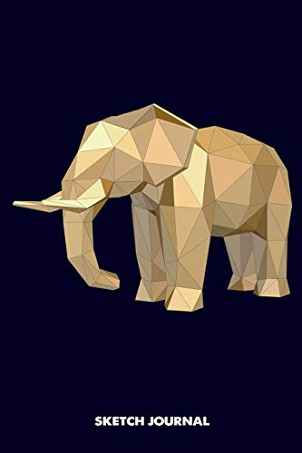 Sketch Journal: elephant origami, 3d animals low poly, origamist Drawing sketch Pad, Composition Book and blank Notebook gift for Men Women school kids, boys and girls, Children Animals Doodles