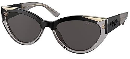 Prada Gafas de Sol MONOCHROME PR 03WS Black Grey/Grey 55/18/140 mujer