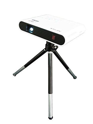 Aiptek AN100 DLP Pico Projektor mit Android Betriebssystem (WLAN, Bluetooth, Airplay, Miracast, 100 Lumen, 120 Zoll, WVGA, SD Kartensteckplatz, USB) weiß