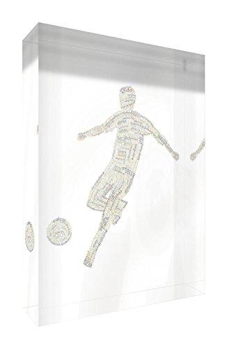 Feel Good Art FOOTBALLA5BLK-01IT Grande (14.8 x 21 x 2cm) Beige Tones