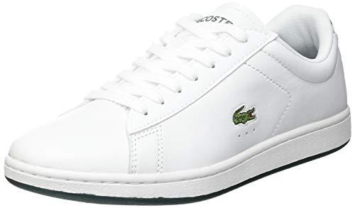 Lacoste Sport Damen Carnaby EVO 0721 2 SFA Sneaker, Wht/Dk Grn, 39.5 EU