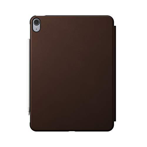 NOMAD Rugged Folio Case - Funda de piel con tapa para iPad Air de 4ª generación, color marrón
