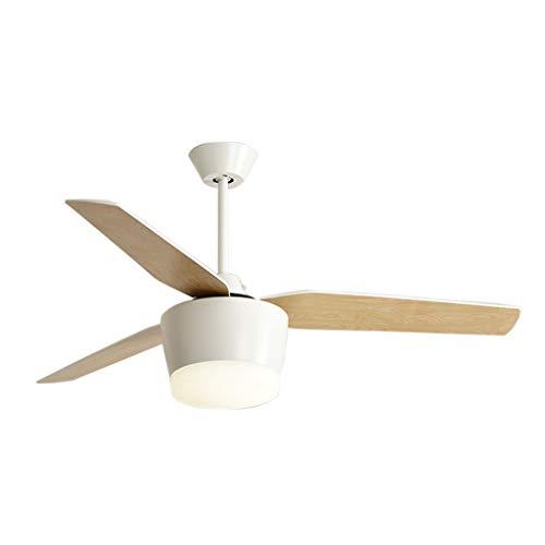 Plafondventilatoren met verlichting elektrische ventilator kroonluchter woonkamer eetkamer slaapkamer fan licht eenvoudige houten fan Blade LED plafondventilator licht met afstandsbediening