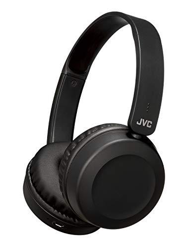JVC HA-S48BT-B ワイヤレスヘッドホン Bluetooth対応/連続17時間再生/バスブースト機能搭載/ハンズフリー通話用マイク内蔵/フラット折りたたみ式/ブラック HA-S48BT-B
