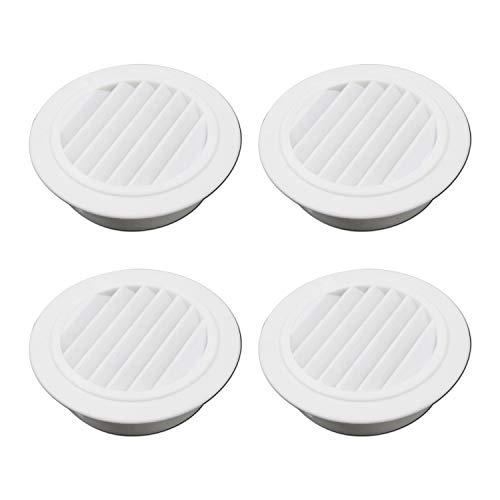 T Tulead Round Soffit Vent Plastic Air Vent White Vent Cover 5.2