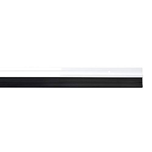 WOLFPACK LINEA PROFESIONAL 5190395 Burlete Puerta Aluminio Blanco con Goma 1 Metro
