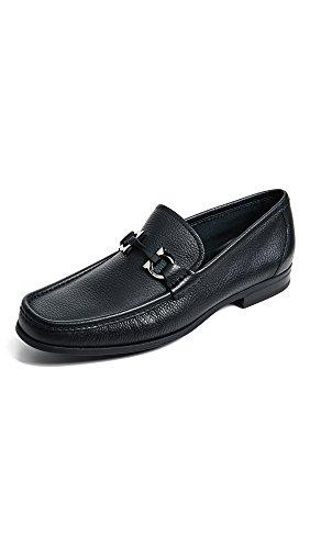 SALVATORE FERRAGAMO Men's Grandioso Bit Loafers, Black, 10 Medium US
