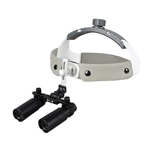 6.0X Dental Chirurgisch Lupen, 60mm Sichtfeld 50mm Schärfentiefe Medizinische Lupe zum Stomatologie, Dental, Orthopädie, Naht-Chirurgie