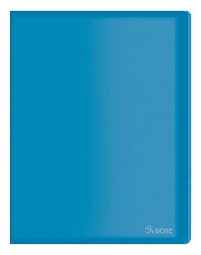 Dohe 91381 – Carpeta polipropileno con 10 fundas, flexible, color azul
