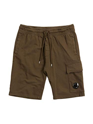 C.P. Company Herenshorts Garment Dyed Light Fleece Lens Shorts