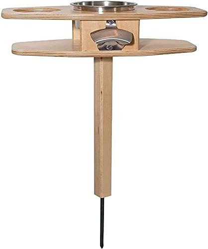 Egdu Mesa de Vino al Aire Libre, portátil y Plegable Mesa de Vino Mesa Auxiliar de Patio al Aire Libre para jardín Porche Balcón Patio Playa Snack Picnic Patio Mesas de Bar