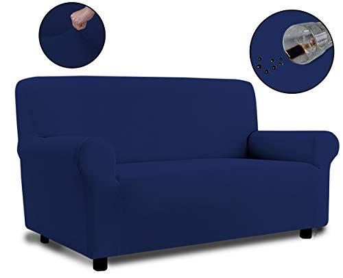 Banzaii Copridivano 3 Posti Blu – Elasticizzato Antimacchia – Estensibile da 150 a 200 cm con braccioli sagomati - Made in Italy