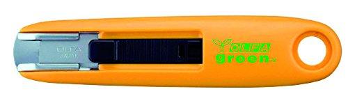 Olfa 330631 Cúter con recogida automática de la cuchilla de 12,5 mm fabricado con plástico reciclado, Negro