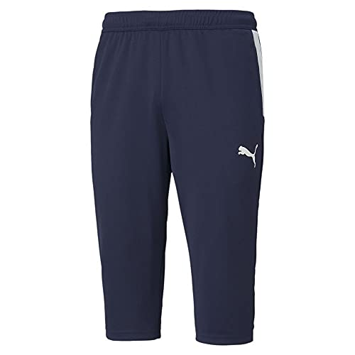 PUMA teamLIGA Training 34 Pants Pantalones, Azul y Blanco, Extra-Large para Hombre