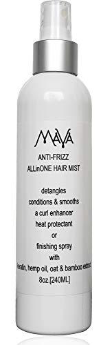 Price comparison product image Mava Anti-Frizz ALLinONE Hair Mist,  Detangles,  Conditions & Smooths,  a Curl Enhancer & Heat Protectant.