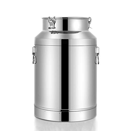 Great Deal! Flour Container Airtight Stainless Steel Airtight Canister Set,Flour Sugar Canisters Sets For The Kitchen,Tea, Sugar, Coffee, Caddy, Flour Canister With Clear Lid (Size : 42L(22X60CM))