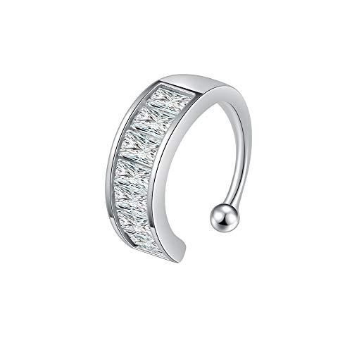 Immobird Pendientes Mujer Plata de Ley 925 ear cuff pendientes clip mujer Ajustable Mujer No Piercing Aretes
