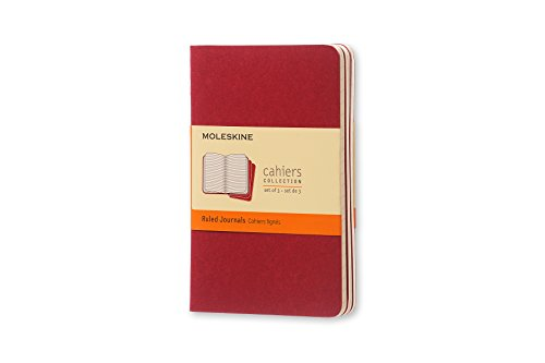 Cahier ruled pocket, red