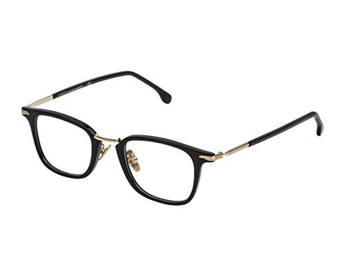 LOZZA Montatura occhiali vista VL4158 0700, unisex, nero lucido - shiny black, 48