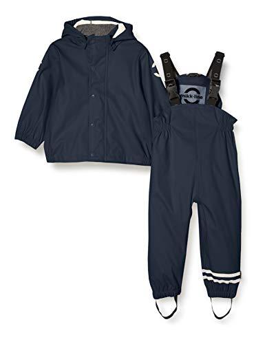mikk-line Unisex-Baby Set Rain Jacket, Blue Nights, 74