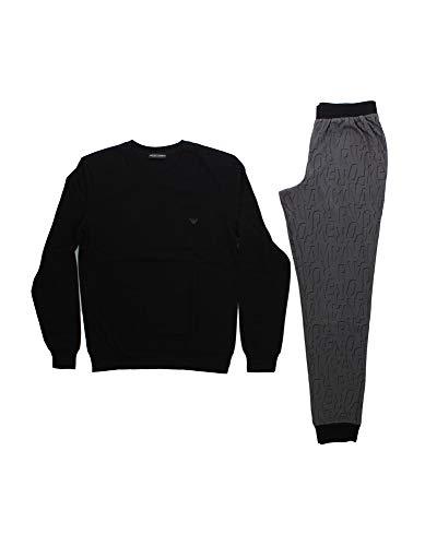 Emporio Armani Underwear Herren Pajamas Pyjamaset, Antracite Stampato Ea-Anthracite Ea Print, XL