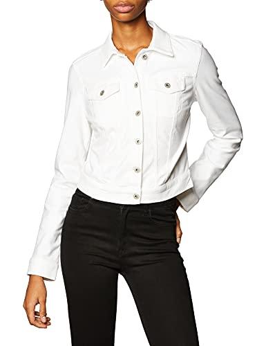 Jessica Simpson Women's Pixie Denim Jacket, White/White, Medium