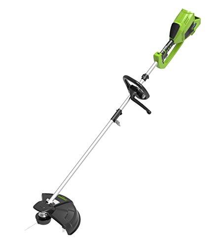 Greenworks Tools Decespugliatore e Falce a Batteria 2 in 1 GD40BCK2X Li-Ion 40 V Larghezza 40 cm / 25 cm, 2 mm Filo, Coltello 5300 RPM, Manico Regolabile, con 2 Batterie 2 Ah e Caricatore, Verde