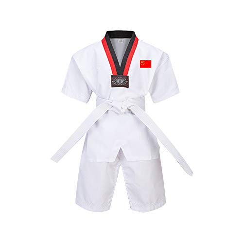 Yiliankeji Adulto Niño Hombre Dobok Taekwondo Kimono Traje - Artes Marciales Uniforme Sudadera Vestimenta Ropa Kung Fu Karate Judo Trajes Cinturón Algodón/Poliéster Manga Larga/Manga Corta