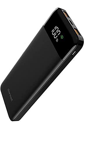 Charmast モバイルバッテリー 軽量 10400mAh PD QC3.0 Type-C 【PSE認証済み】 薄型 急速充電 コンパクト ミニ バッテリー 携帯 小型 スマホ 充電器 小型 USB充電 各種デバイス対応 同時三台充電