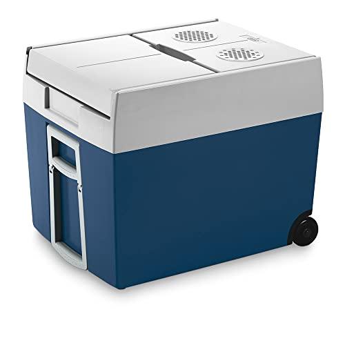 Mobicool MT48W - Frigo portatile termoelettrico, Per auto, camion, barca o camper, 12 V o 230 V, 48 L, Blu metallizzato/Bianco, 53.2 x 40 x 45.2 cm
