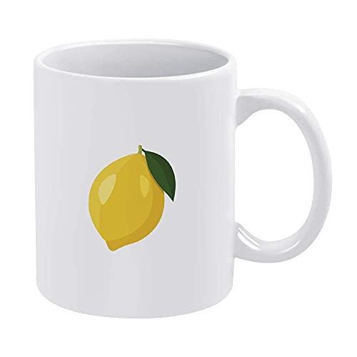 Taza de cerámica, amarillo limón, regalo para amigos, regalo para el día del padre