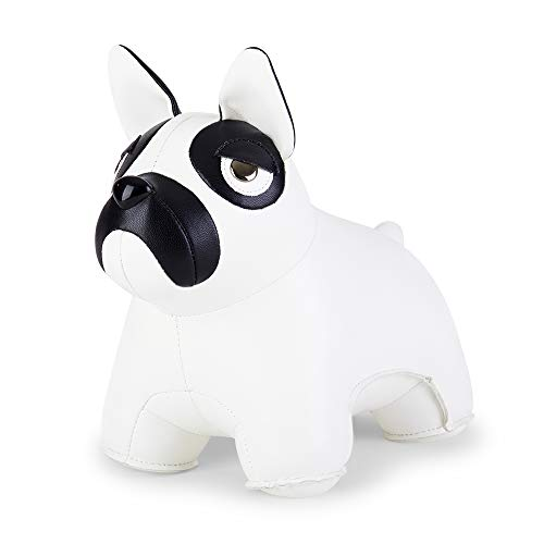 Zuny, Classic Series Bookend White for Shelves, Office Decorative- French Bulldog