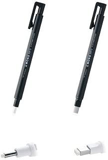 Tombow MONO Zero Pen-Style Eraser Round Tip + Square Tip (Black Barrel)