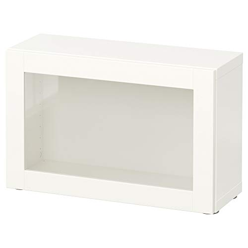 BEST<b regał ze szklanymi drzwiami 60 x 20 x 38 cm Sindvik biały
