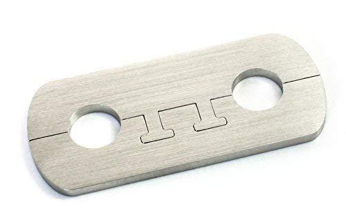 DUB SPENCER Exklusive Edelstahl Heizkörper Rosette - Rohrabstand 50 mm - Doppelrosette für HEIZUNG Ø 15, 18, 20 mm (20 mm Rohrdurchmesser)