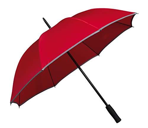 VON LILIENFELD® Paraguas Tira Reflectante Mujer Hombres Robusto Finn Rojo