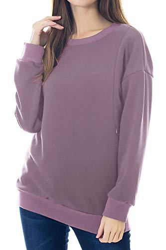 Smallshow Bluza z wełny owczej z długim rękawem, bluzka do karmienia
