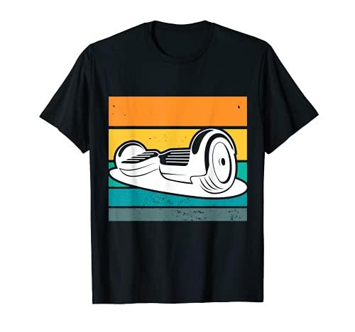 ワンホイールホバーボード レトロな電動スケートボード Tシャツ