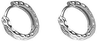 Fashion Sleeper Small Hoop Earrings S925 Sterling Silver for Women Girls Minimalist 8mm Hinged Huggie Hoops Cartilage Earr...