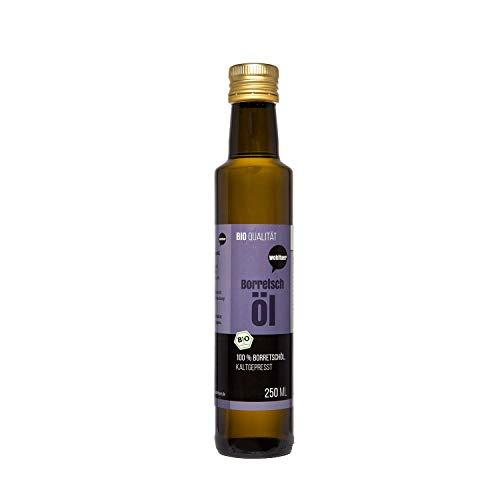 Wohltuer Bio Borretschöl 250ml - Nativ gepresst und 100{bb88bddde49f4577a9787bc193a62e909e8fd5b885dd3d5c21e5cbc2fd245043} rein - Natur pur (250 ml)